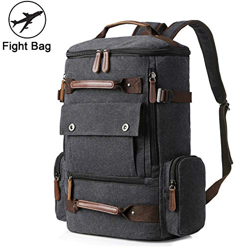Yousu Canvas Backpack, Mens Large Travel Duffel Bags Fashion Multi Functional Backpacks Canvas
