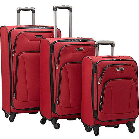 Heritage Wicker Park 3-Piece Luggage Set, Red