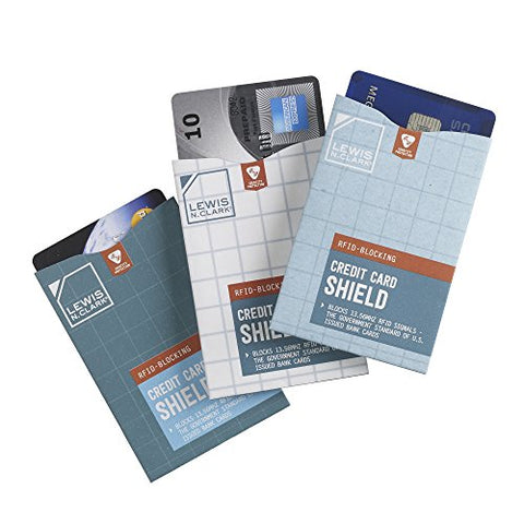 Lewis N. Clark Luggage Rfid 3 Pack Credit Card Shield, Multi, One Size