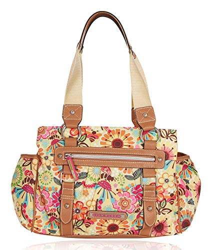 Lily Bloom Triple Section Landon Multi-Purpose Satchel Bag (Busy Bee)