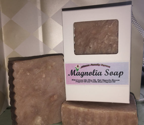 Pink Magnolia Hand Crafted Natural Soap