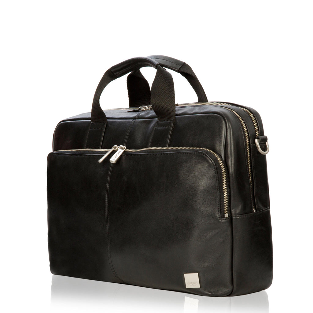 "Amesbury Leather Laptop Briefcase - 15"" -  Black"