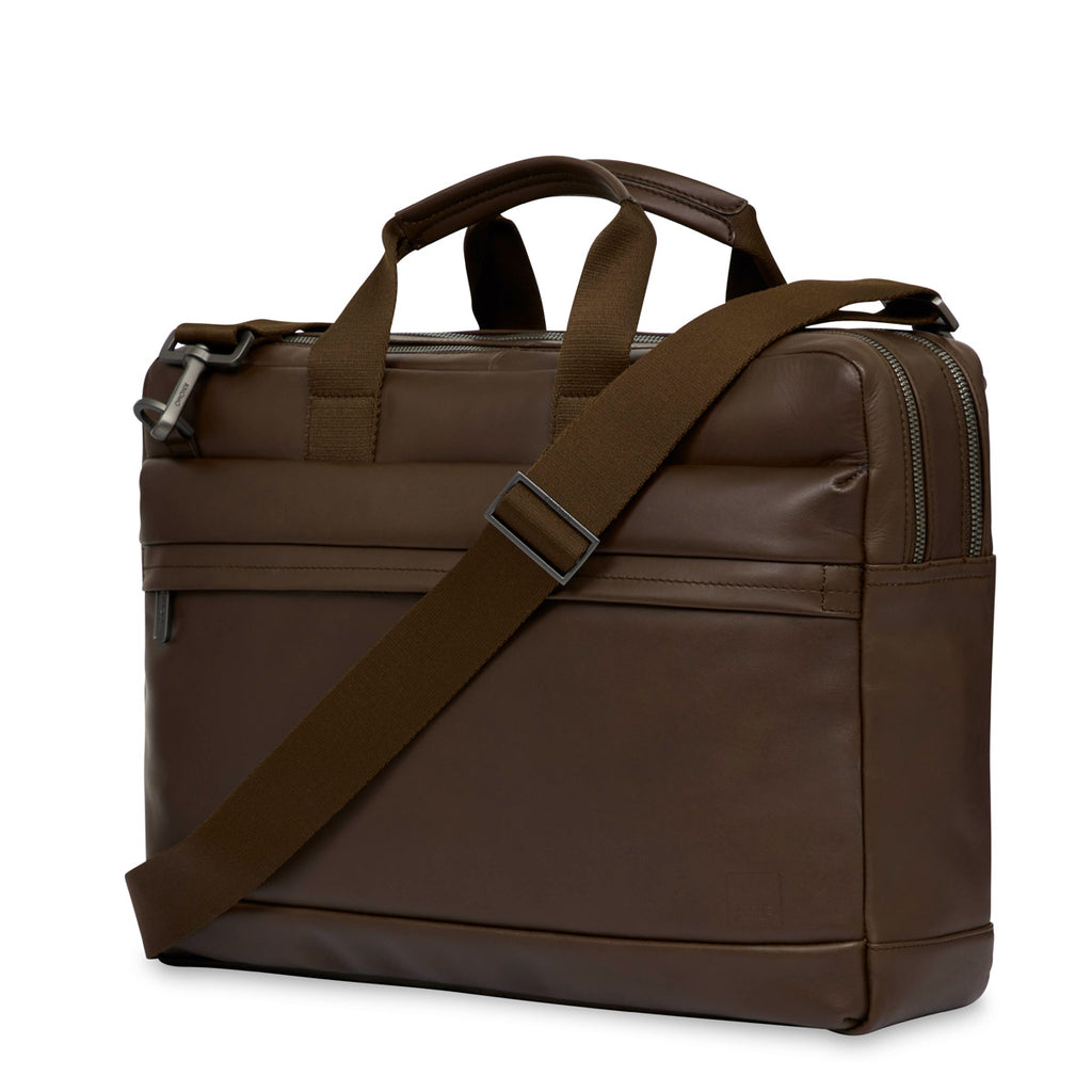 "Roscoe Leather Laptop Briefcase - 15"" -"