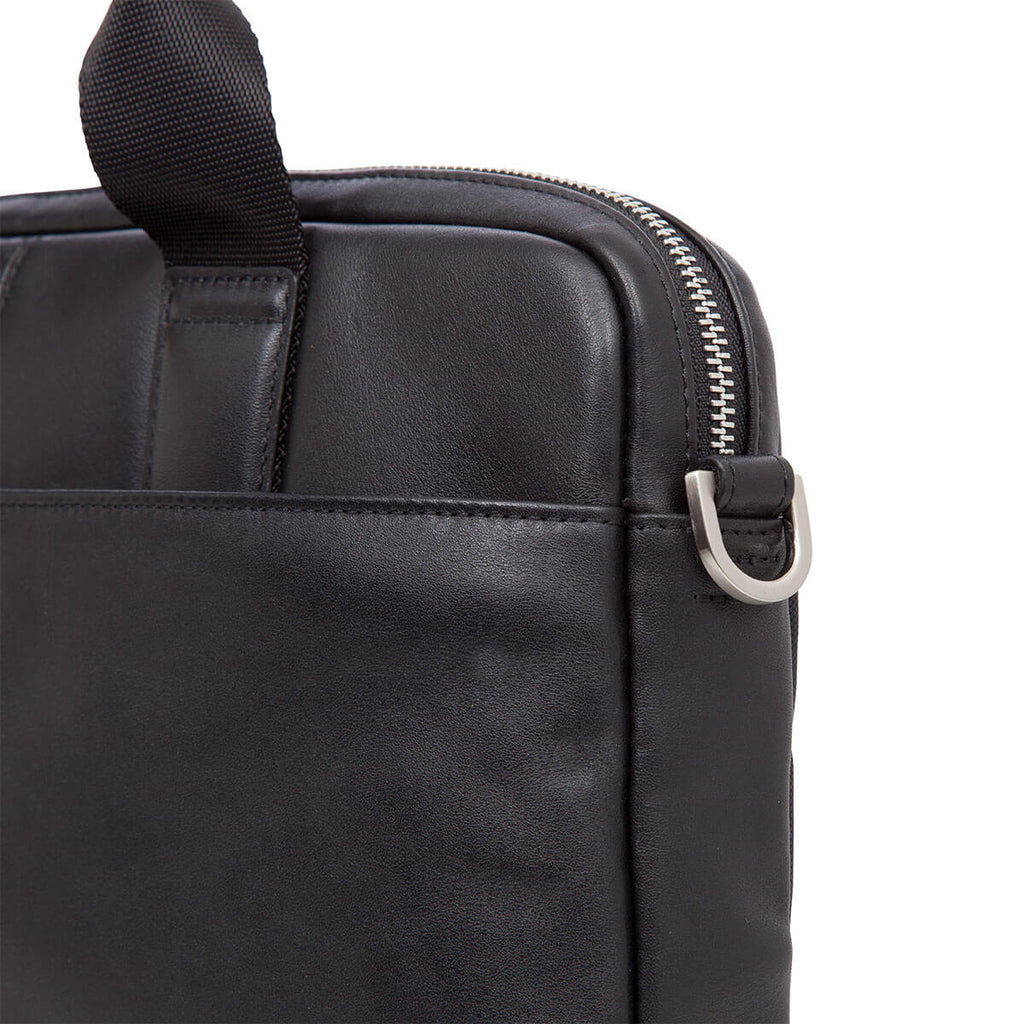 "Stanford Leather Laptop Briefcase - 13"" -  Black"