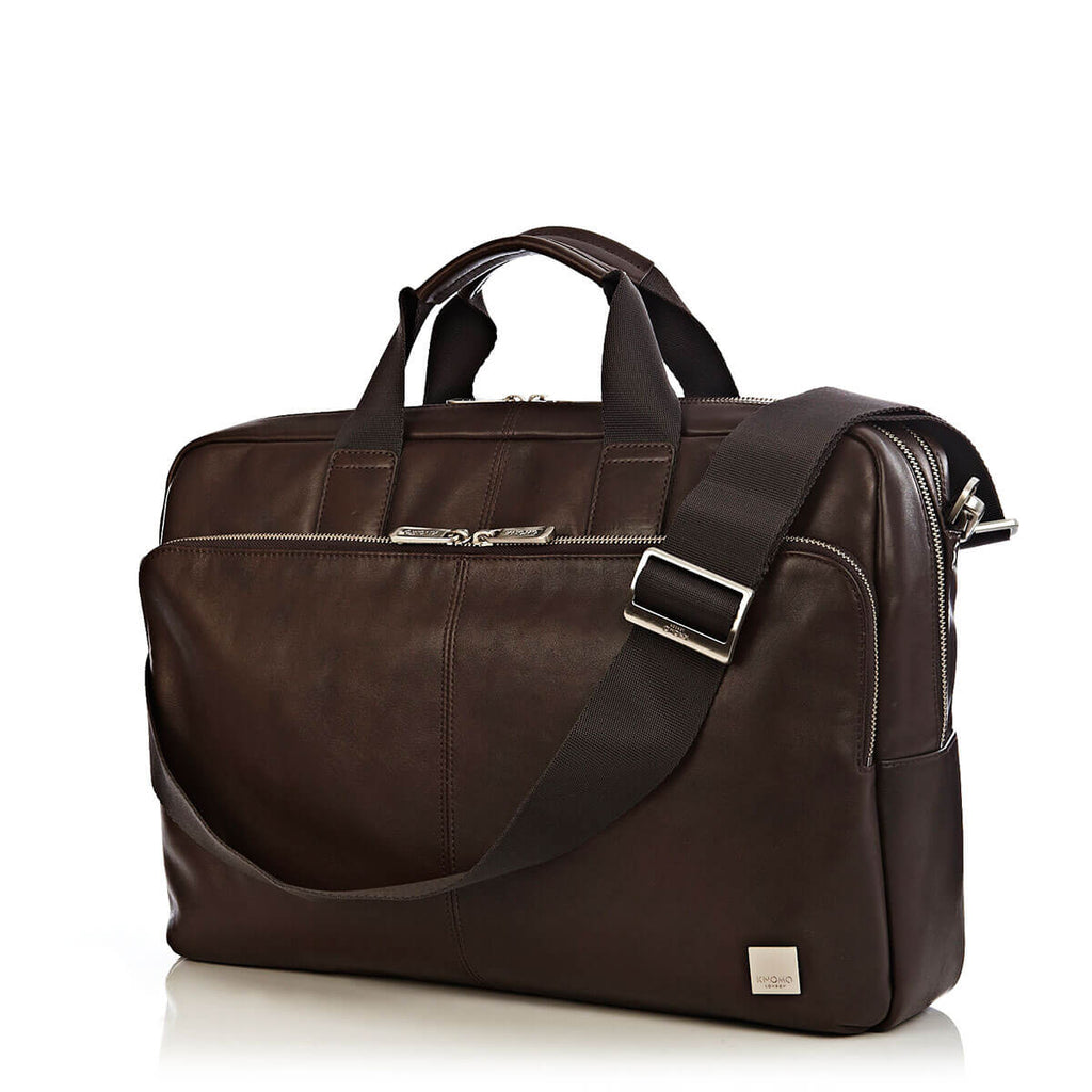 "Amesbury Leather Laptop Briefcase - 15"" -  Brown"