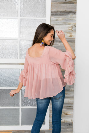 Juliet Sheer Blouse - ALL SALES FINAL