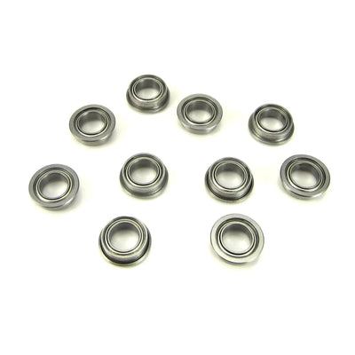 TRB RC 5x8x2.5mm Flanged Precision Ball Bearings Metal Shields (10) - trb-rc-bearings