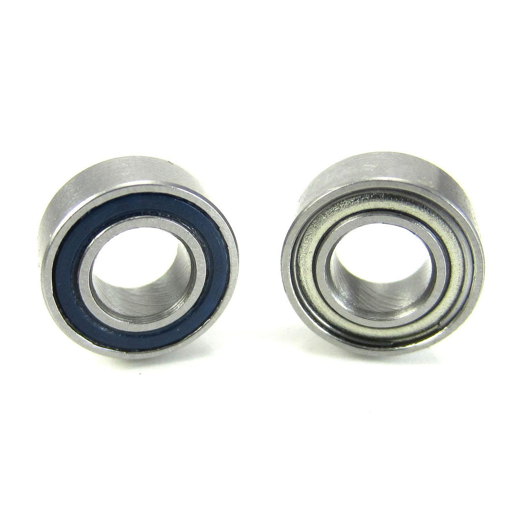TRB RC 5x10x4mm Precision Ball Bearings ABEC 5 Hybrid Seals Blue (2) - trb-rc-bearings