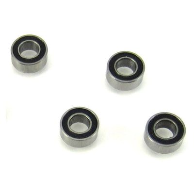 TRB RC 3x6x2.5mm MR63-2RS Precision Ball Bearings Rubber Sealed (4) - trb-rc-bearings