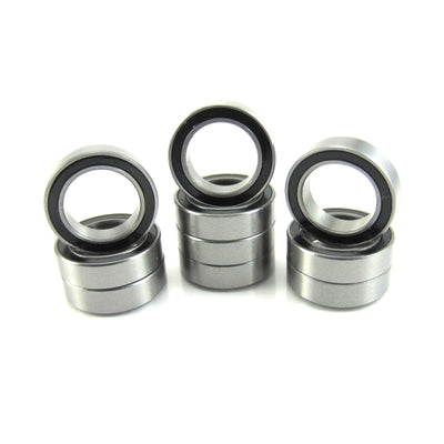 TRB RC 10x15x4mm Precision Ball Bearings Stainless Steel Rubber Sealed (10) - trb-rc-bearings
