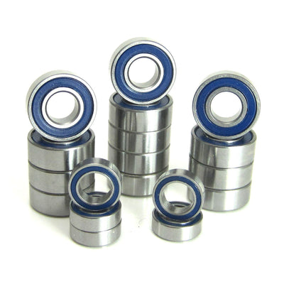 TRB RC Precision Bearing Kit (18) Blue Rubber Sealed Tamiya HotShot - trb-rc-bearings