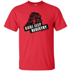 Gobi Jeep Registry Logo G200B Gildan Youth Ultra Cotton T-Shirt