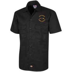 Southern Jeeps Militia gold embroidered logo 1574 Dickies Men's Short Sleeve Workshirt