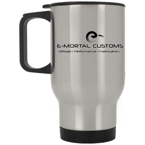 E-Mortal Dye Sublimation XP8400S Silver Stainless Travel Mug