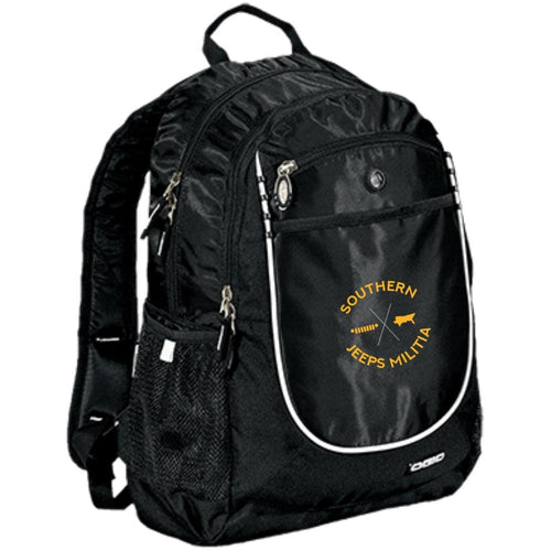 Southern Jeeps Militia gold embroidered logo 711140 OGIO Rugged Bookbag