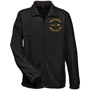Southern Jeeps Militia gold embroidered logo M990 Harriton Fleece Full-Zip