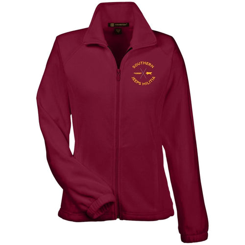 Southern Jeeps Militia gold embroidered logo M990W Harriton Women's Fleece Jacket