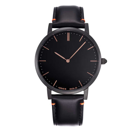 Aries Gold | All Black Men Watch G 1008 BK-BK | Black Dial Black Strap