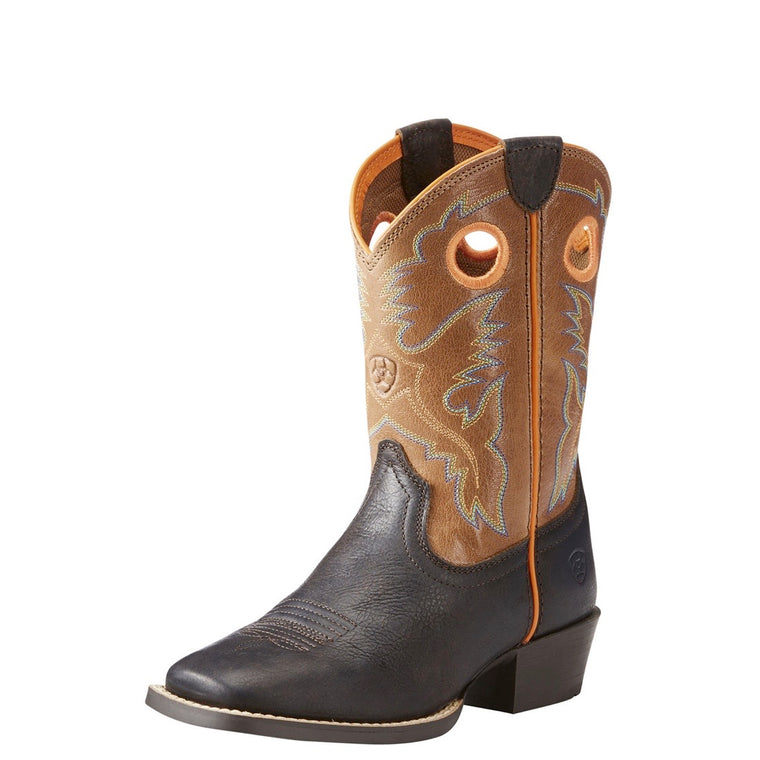 Ariat Kids Heritage Roughstock Dark Java/Lightsaddle