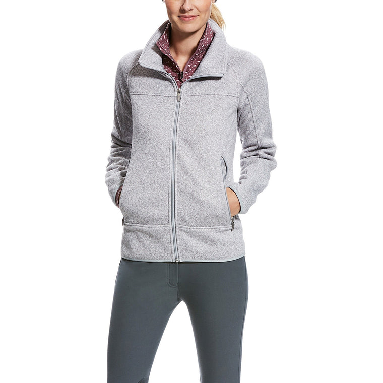 Ariat Womens Sovereign Full Zip Jacket Heather Gray