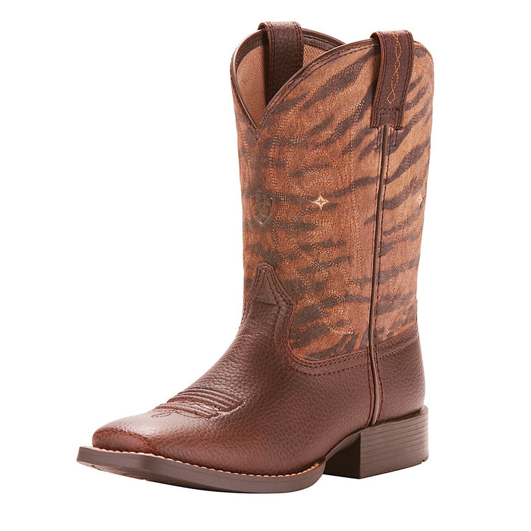 Ariat Kids Quickdraw Western Boot Pebbled Pinecone/Vintage