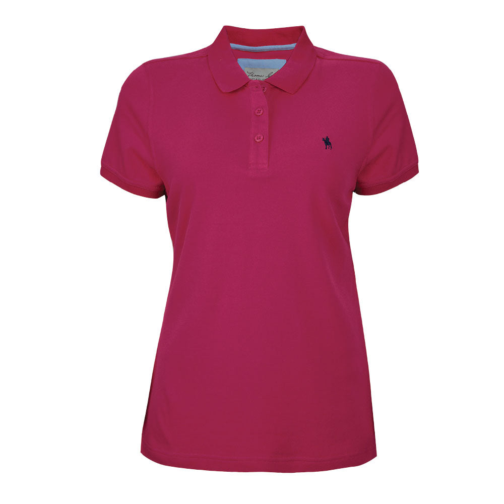 Thomas Cook Womens Classic Stretch Polo Bright Rose