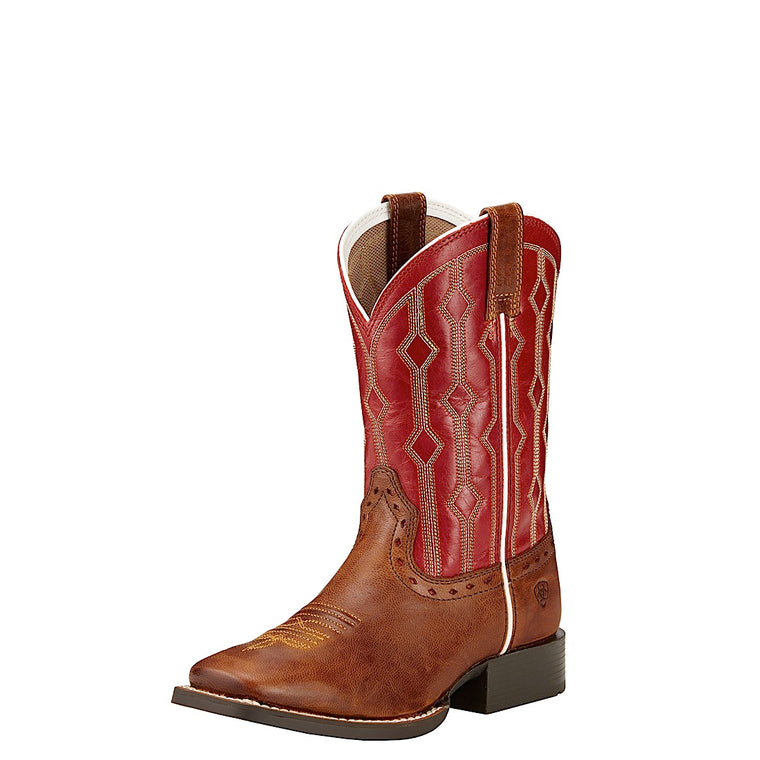 Ariat Kids Live Wire Wood/Mega Red