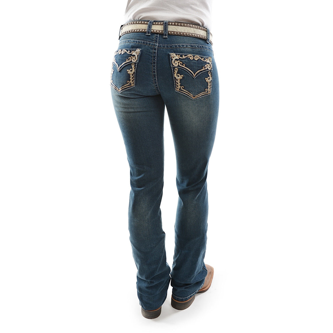 Pure Western Womens Carolina Relaxed Rider Boot Cut Jean 36 Leg Twilight