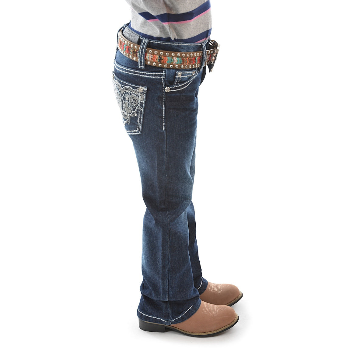 Pure Western Girls Haley Stretch Jean Boot Cut Midnight