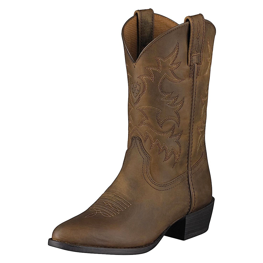 Ariat Kids Heritage Western Boot Distressed Brown