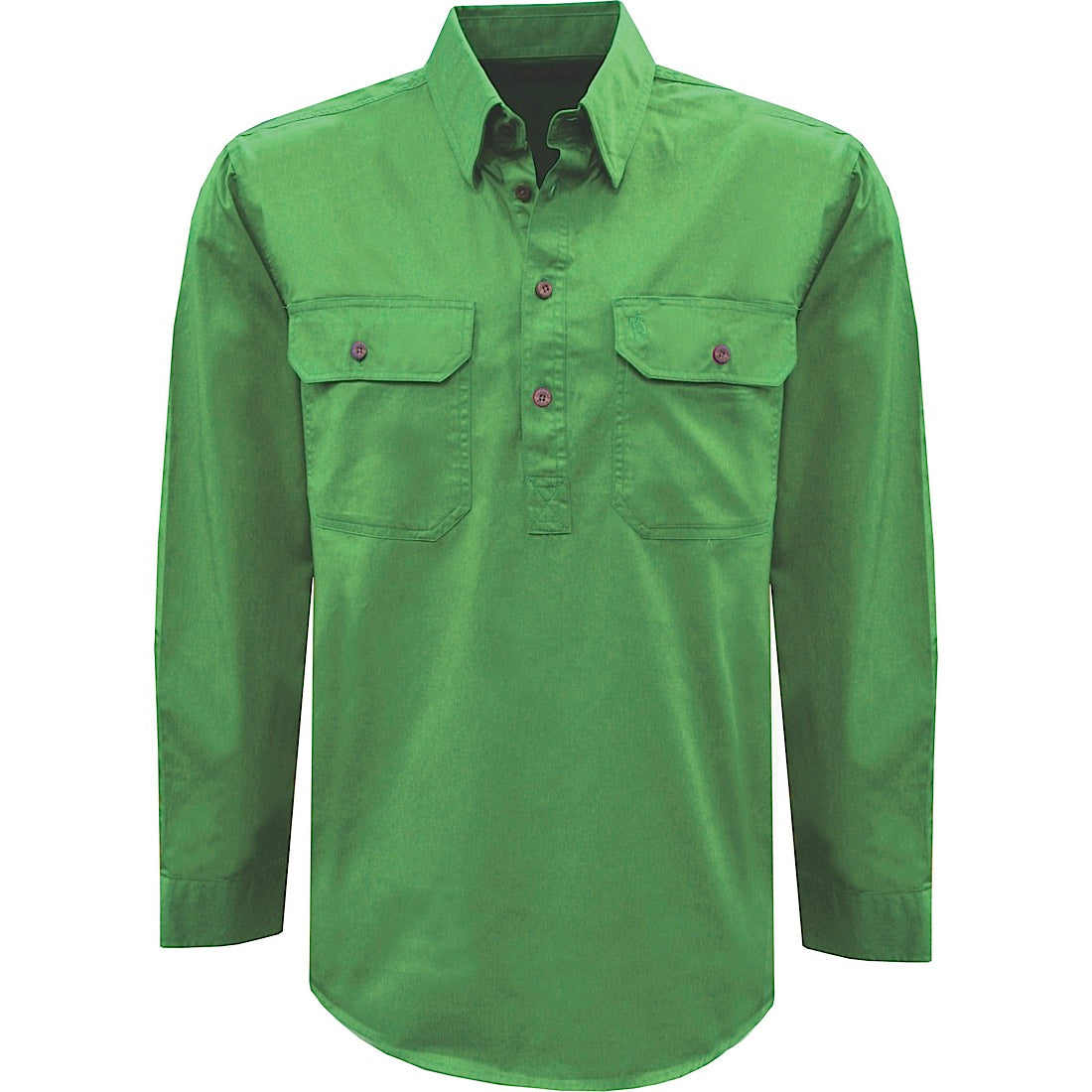 Thomas Cook Womens Heavy Drill 1/2 Plkt L/S 2- Pocket Shirt Lime