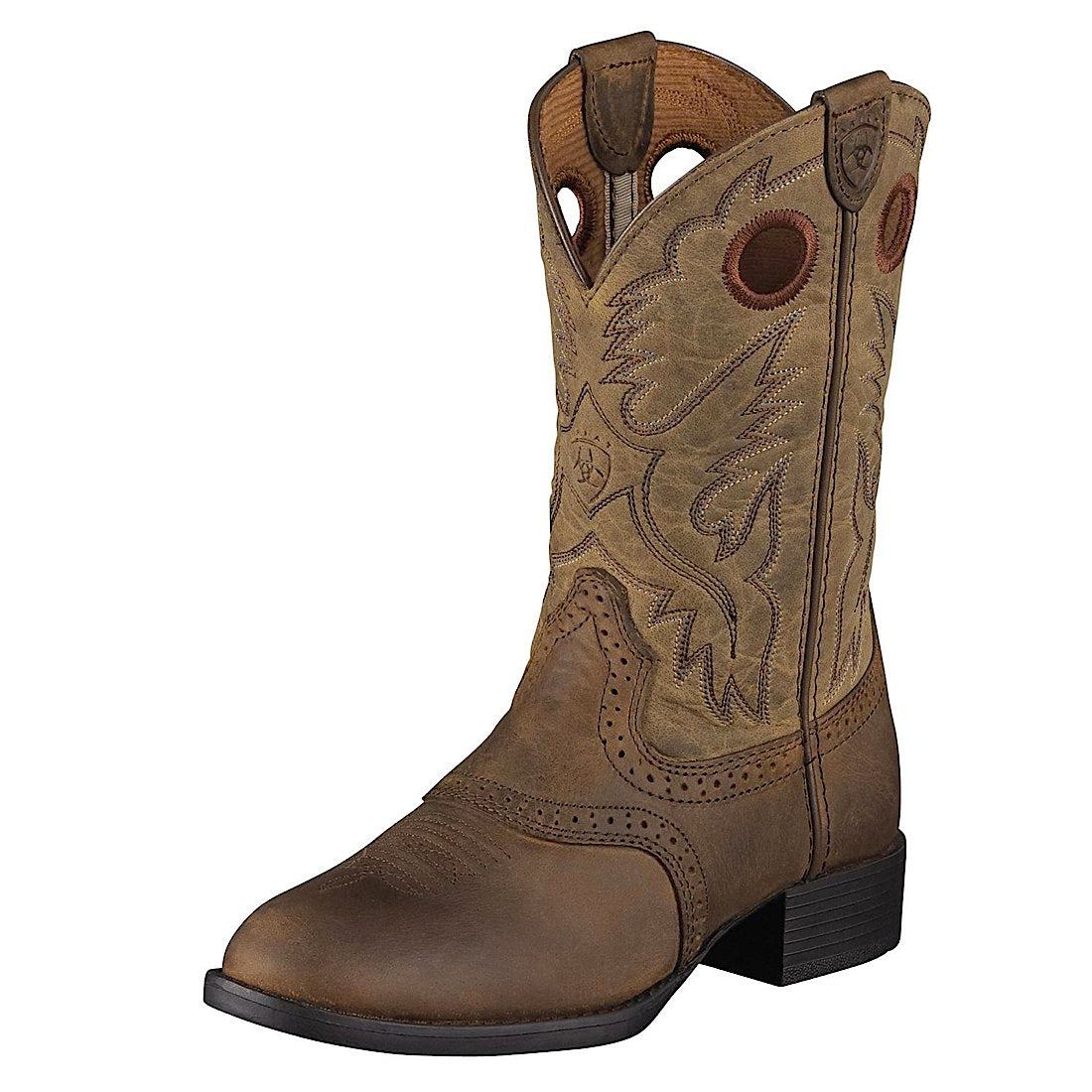 Ariat Kids Heritage Stockman Boot Distressed Brown