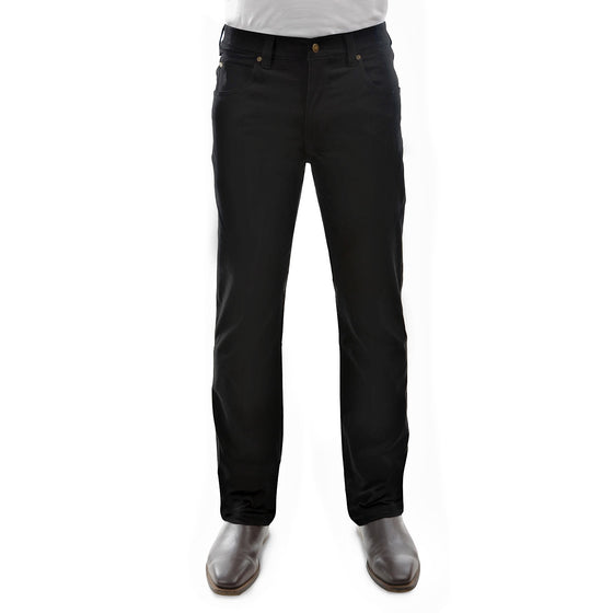 Mens Stretch Moleskin Regular Fit Black