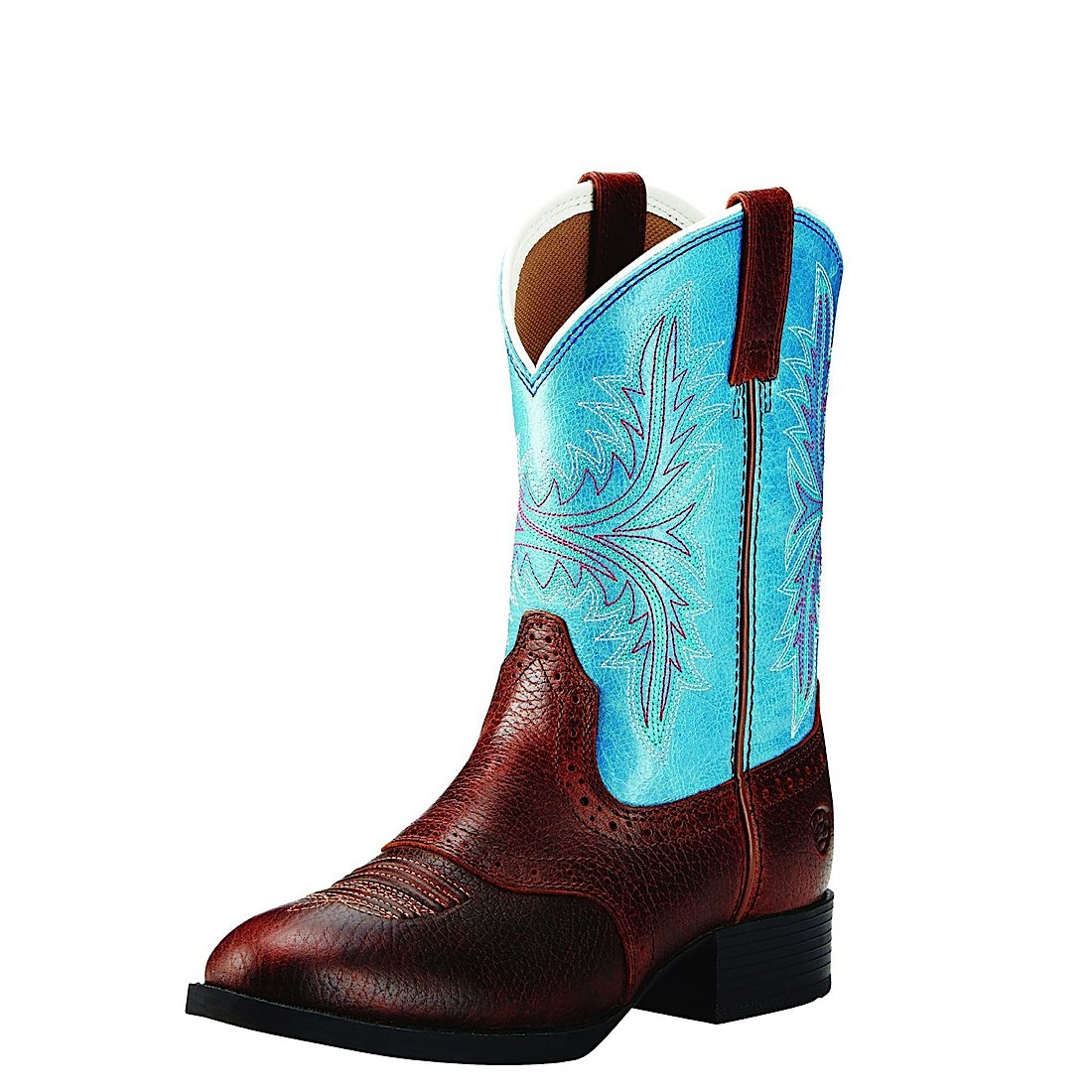 Ariat Kids Heritage Hackamore Fiddle Brown/Malibu Blue