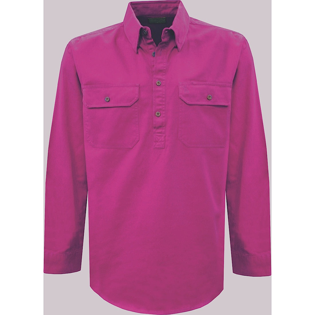 Thomas Cook Womens Heavy Drill 1/2 Plkt L/S 2- Pocket Shirt Berry