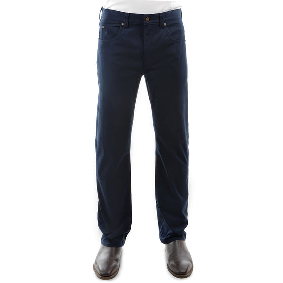 Mens Stretch Moleskin Regular Fit Navy