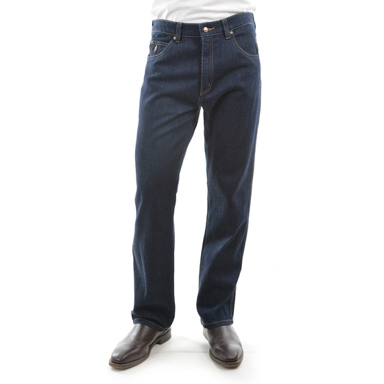 Mens Stretch Jean  Regular Fit Washed Indigo