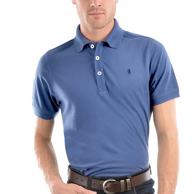 Thomas Cook Mens Tailored Polo Blue Steel