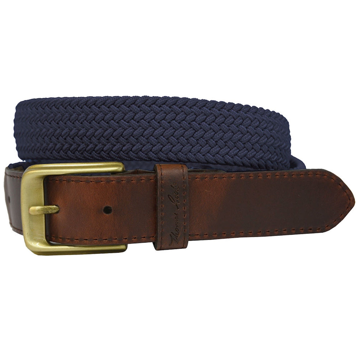 Thomas Cook Comfort Waist Belt Navy/Dark Brown