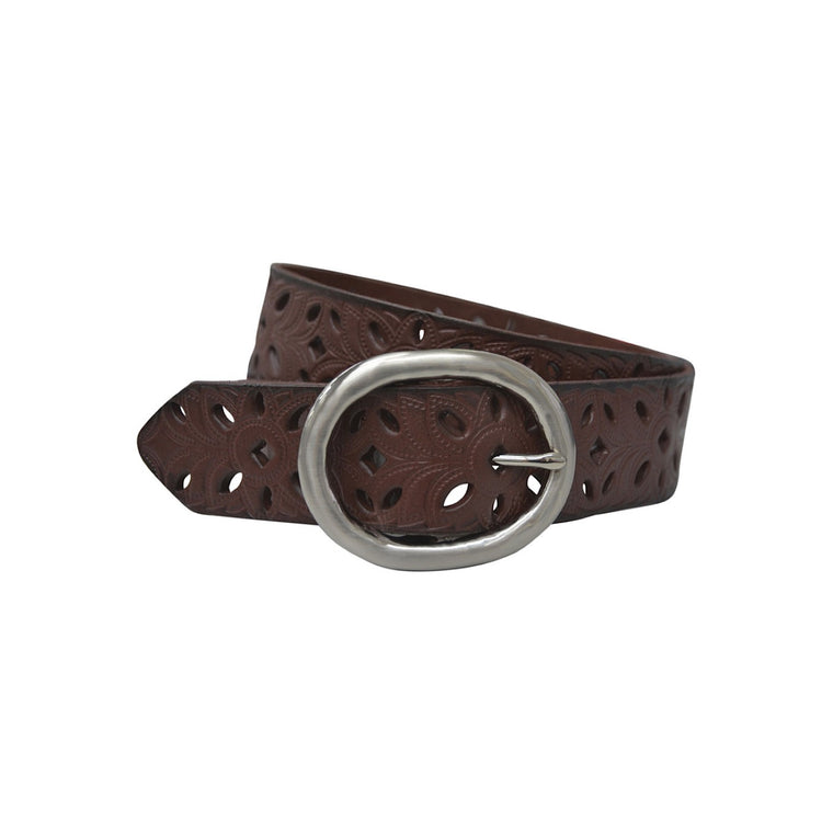 Thomas Cook Womens Kimberley Cut Out Belt Dark Brown