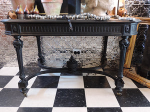 Black Napoleon III Hall Table