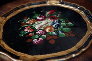 Italian Hand Painted Wooden Trays