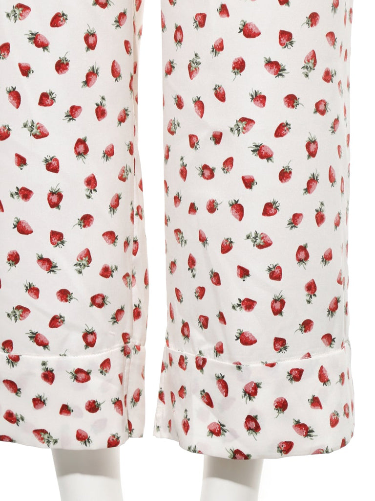 Strawberry Satin Pants (PWFP185234)