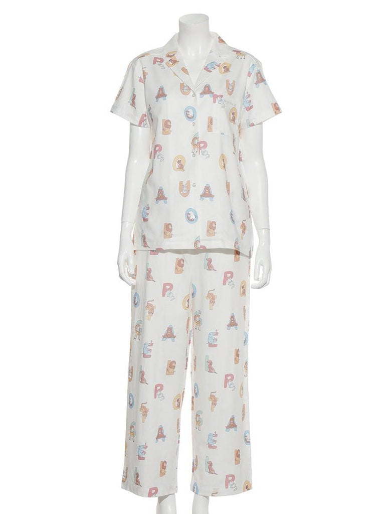 Alphabet Animal Long Pants (PWFP191210)
