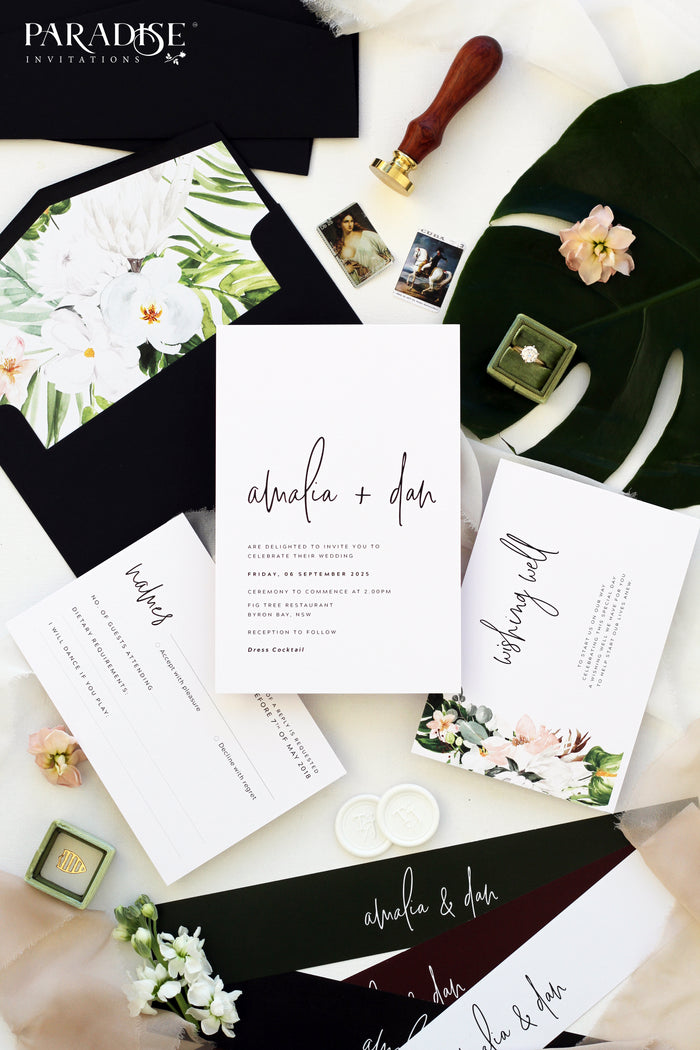 Lucrèce 2 Elegant Calligraphy Wedding Invitations
