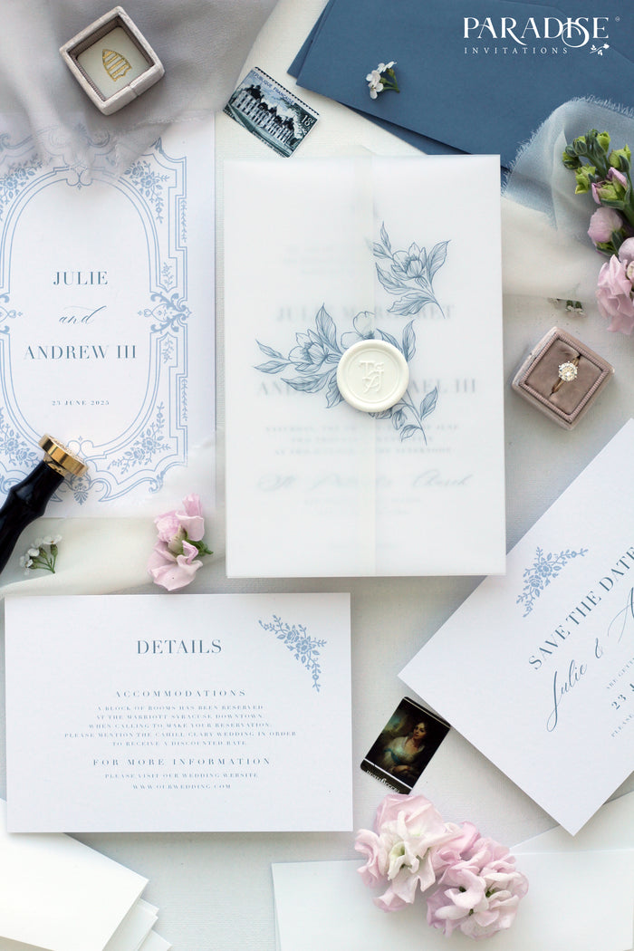 Quelina Modern Calligraphy Wedding Invitation