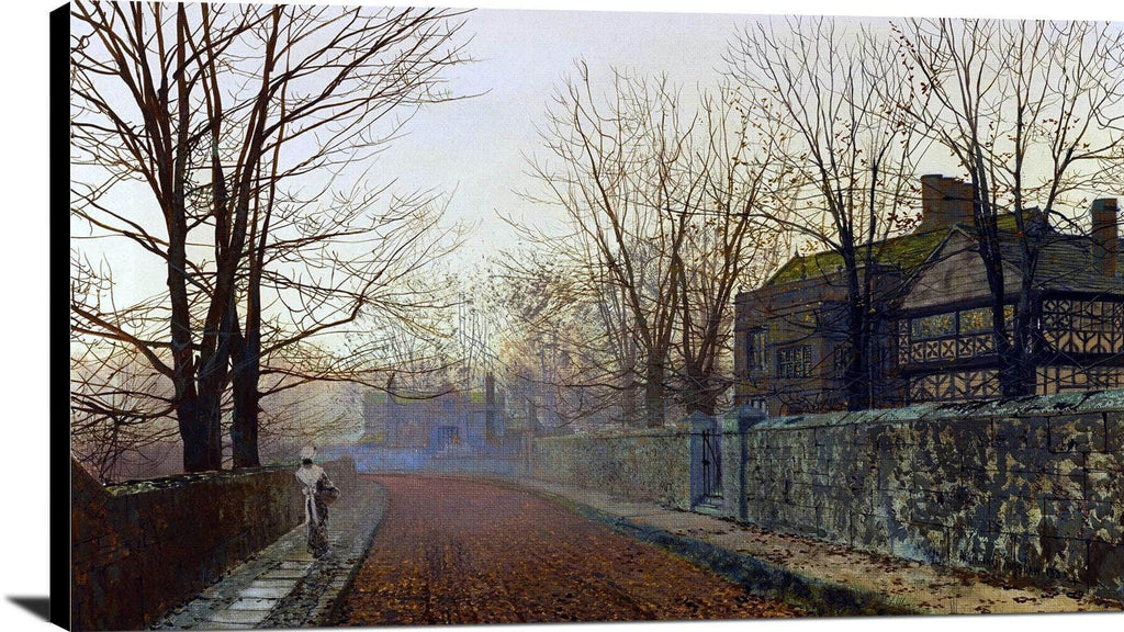 A November Morning Painting John Atkinson Grimshaw Canvas Art