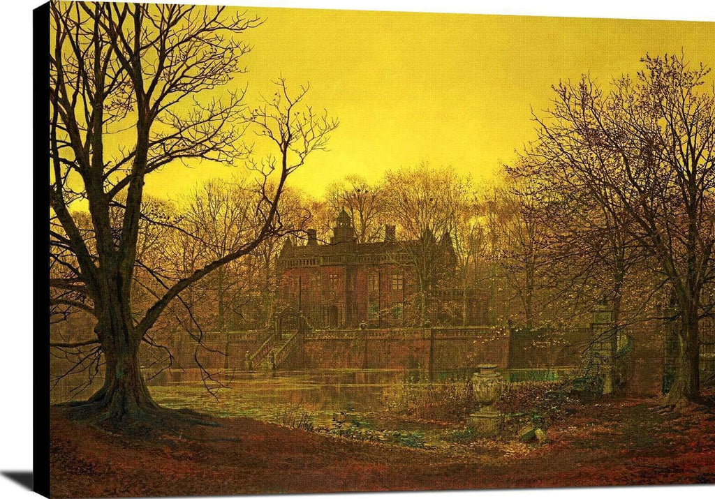 A Yorkshire Home Painting John Atkinson Grimshaw Canvas Art