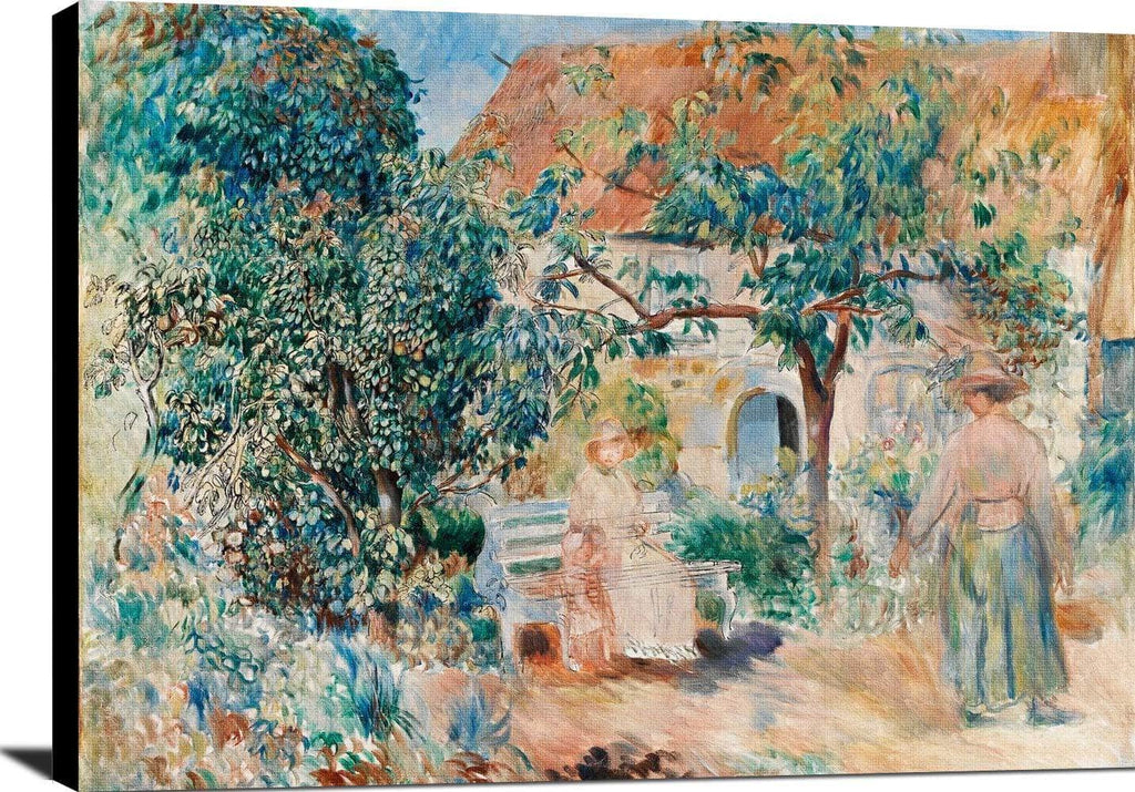 At The Garden In Brittany Painting Auguste Renoir Canvas Art