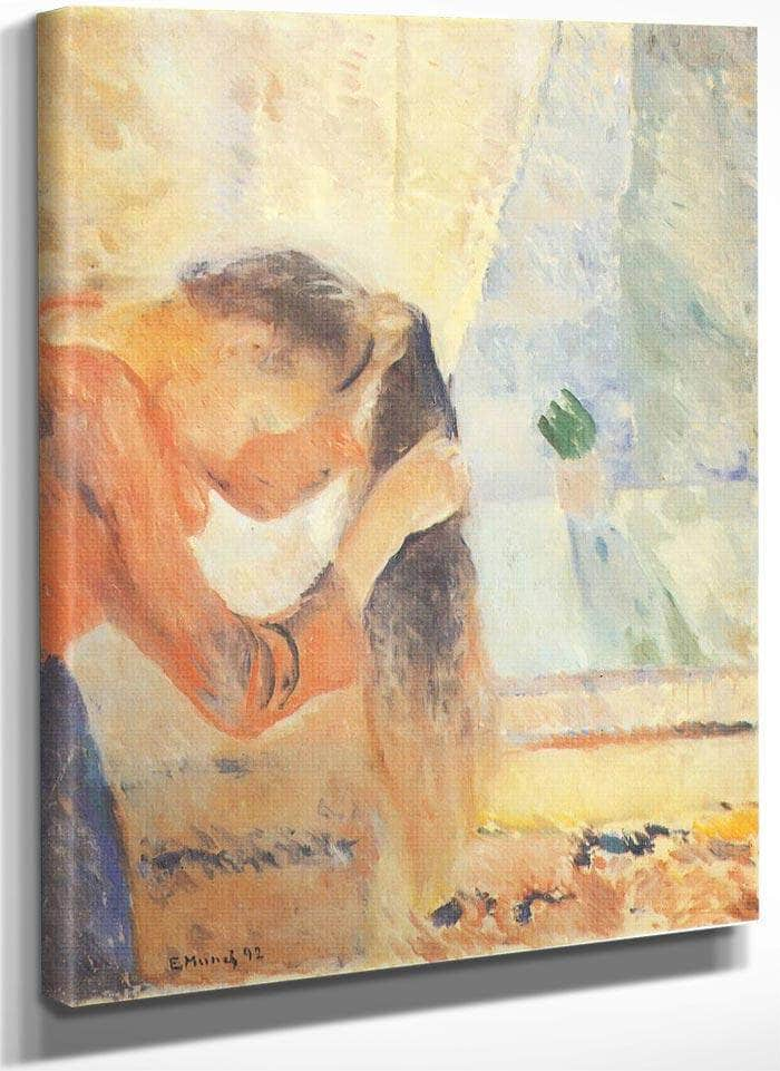 Girl Combing Her Hair 1892 By Edvard Munch
